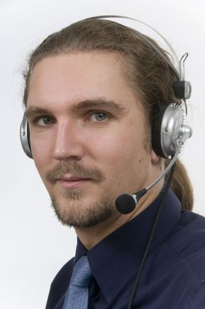 businessman with headset and friendly smile Stock Photo - 6862469