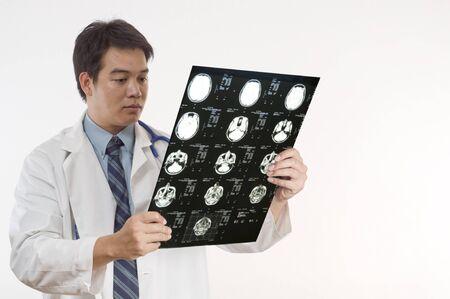 Doctor or Nurse examing patients MRI
