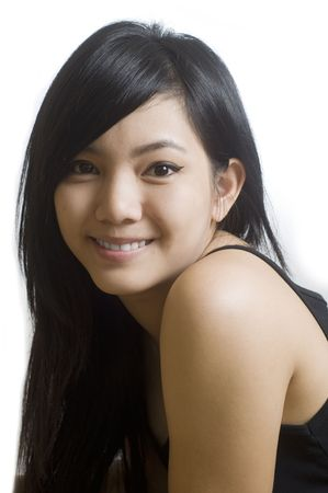 Beautiful young Asian woman. Stock Photo