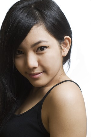 Portrait of young and beautiful Asian girl Stock Photo - 8024606