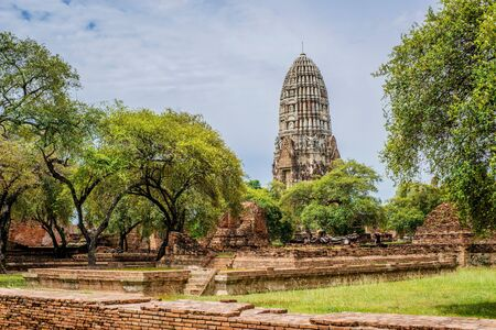 Old Wat in Ayutthaya Thailand  Buddhist Temple photo