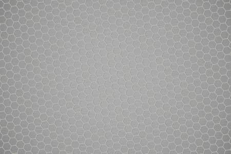 Metal shine hexagon grid background. photo