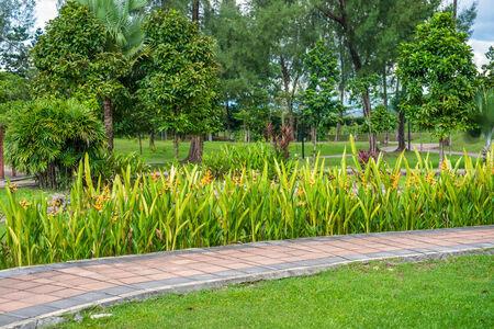 titiwangsa: Sidewalk in Titiwangsa Park, Malaysia