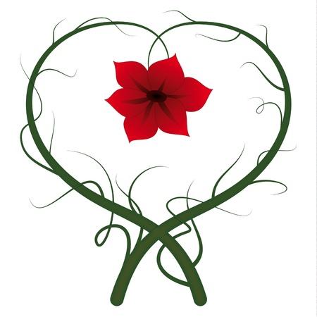 Flower heart Stock Vector - 12492993