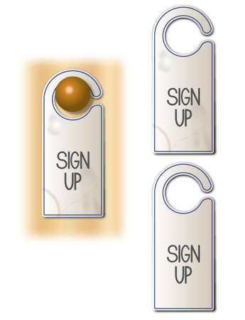 Sign up tag Illustration