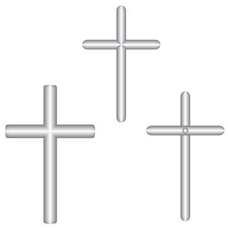 Cross from pipes Vector