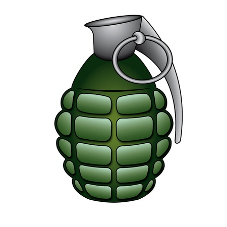 throw up: Hand grenade