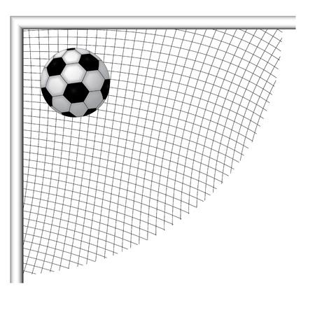 soccer goal: Soccer ball