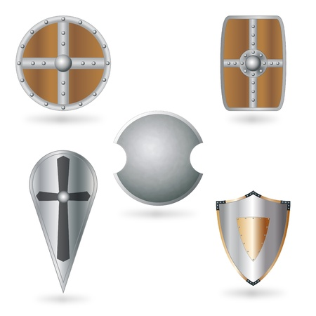 Set of shields Stock Vector - 13777319
