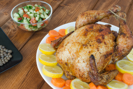 Grilled chicken with salad and vegitables photo