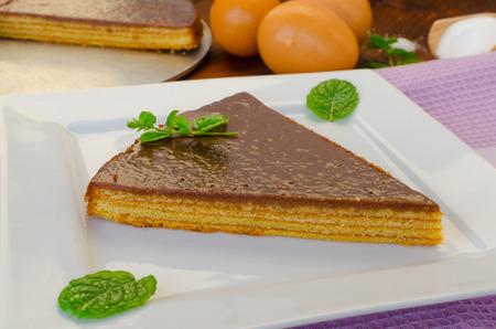 rum cake: Torta Albero con menta, cioccolato e rum ed estratto vannila