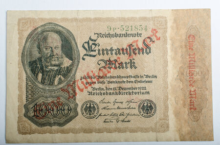 protectorate: Old German banknotes, money background, all real money Editorial