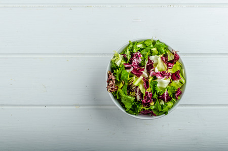 endive: Vegetable salad with endive, fresh and healthy Stock Photo