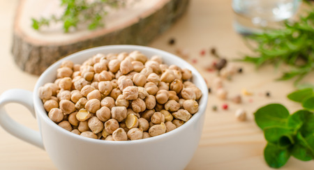 middle eastern: Raw and healthy chickpeas, Simple but delicious legume used in Middle Eastern cuisine