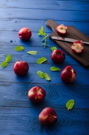 velvety: Fresh nectarines Stock Photo