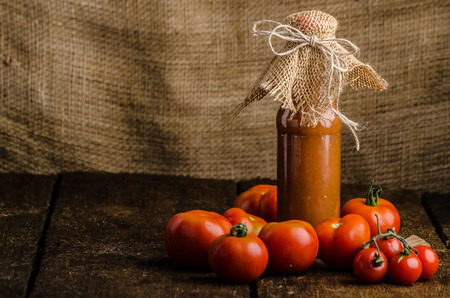 catsup: Homemade ketchup from tomatoes grown in organic garden