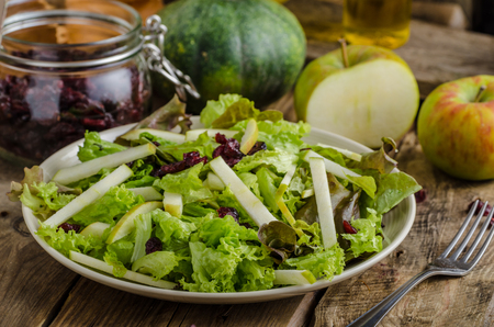 Waldort salad, very simple and delicious salad with nuts and apples