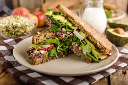 aguacate: Chipotle-Aguacate Sandwich verano Receta