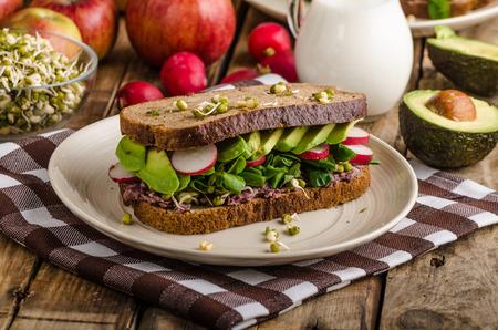 sandwich de pollo: Chipotle-Aguacate Sandwich verano Receta
