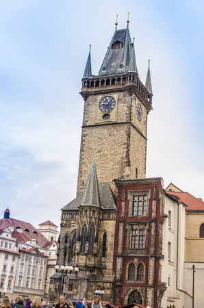 astronomical: Prague astronomical clock, sunny day
