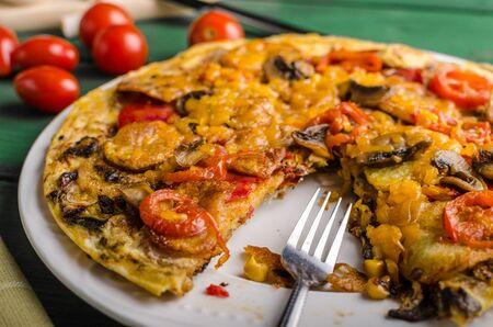 chorizo: Potato frittata with chorizo and tomatoes