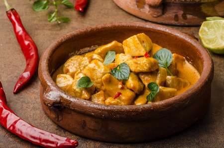 thai chili pepper: Chicken curry