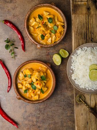 basmati rice: Chicken curry with basmati rice