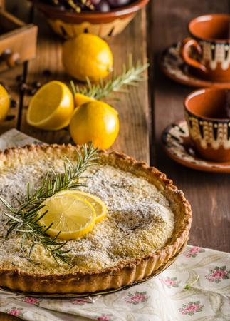 lemon cake: Lemon cake with rosemary