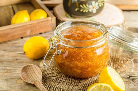 suger: Lemon jam homemade with fresh lemons and suger
