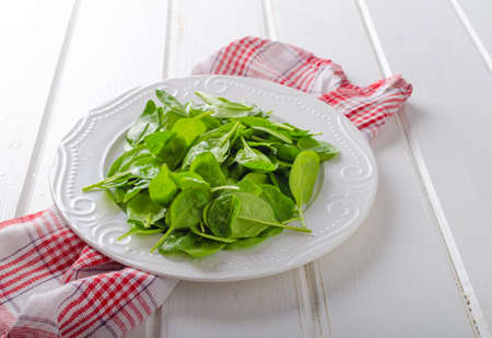 baby spinach: Fresh baby spinach, bio quality