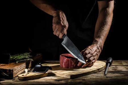 美味しい牛肉ステーキ、製品の写真、あなたの広告のための場所