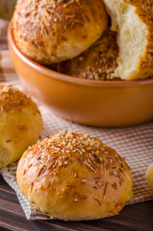 Homemade cheese buns, fast and crispy buns