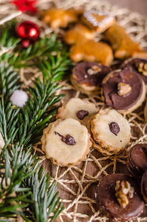 Christmass cookies, candy, more kinds, delicious and with love
