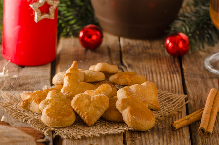 Christmas candy, cookies, background with cookies, food styling Stock Photo