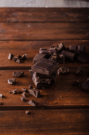 Dark chocolate product photography, ready for advertisment, text