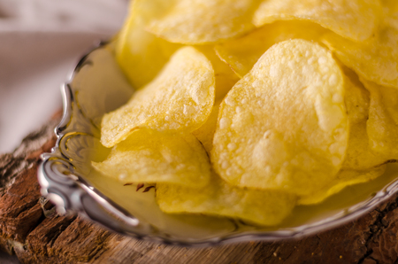 Potato chips product photography, homemade chips delish