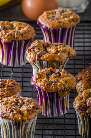 blueberry muffin: Banana wholegrain muffins, healthy and delicious muffins