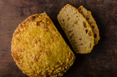 Cheese bread in oven, delish and simple bread