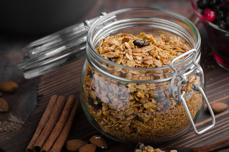Baked granola with berries, delish simple meal