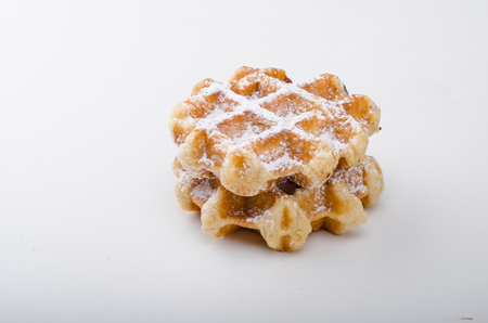 Sugar waffles product photo, food photography, food stock, place for advertisment Stock Photo
