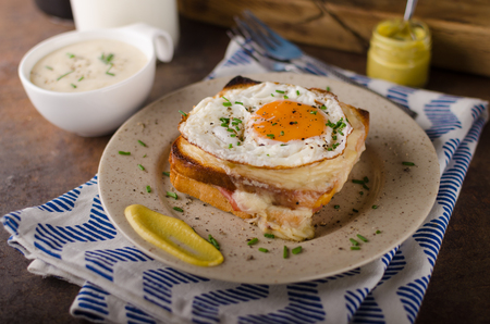 Croque madame sandwich, delish food, food photography