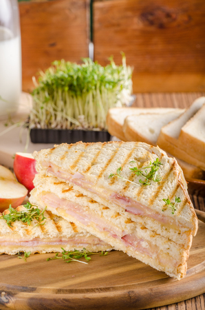 Panini cheese ham toast Banque d'images - 103243073