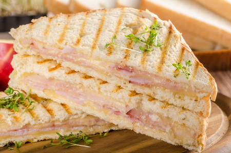 Panini cheese ham toast Banque d'images - 103243293