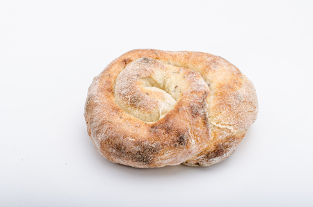 Bread photography, white background Stockfoto