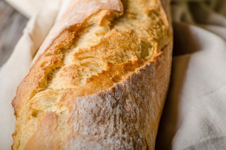 Fresh baguette delish crispy, food photography, vintage food stock Banque d'images - 108749054
