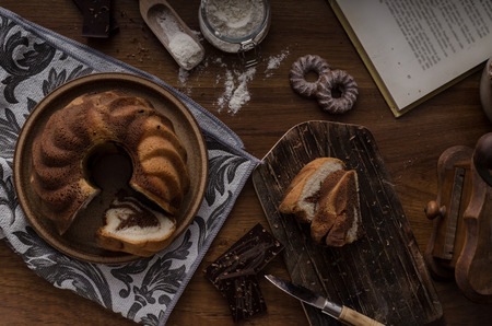 Monkey bread with chocolate, food photography, delish dessert