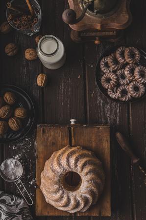 Monkey bread food photography, delish sweet cake Foto de archivo
