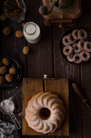 Monkey bread food photography, delish sweet cake Stock Photo