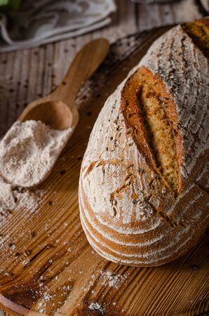 Delicious homemade caraway bread, homemade sourdough bread Stock fotó