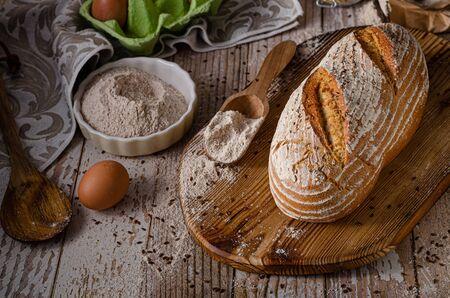 Delicious homemade caraway bread, homemade sourdough bread